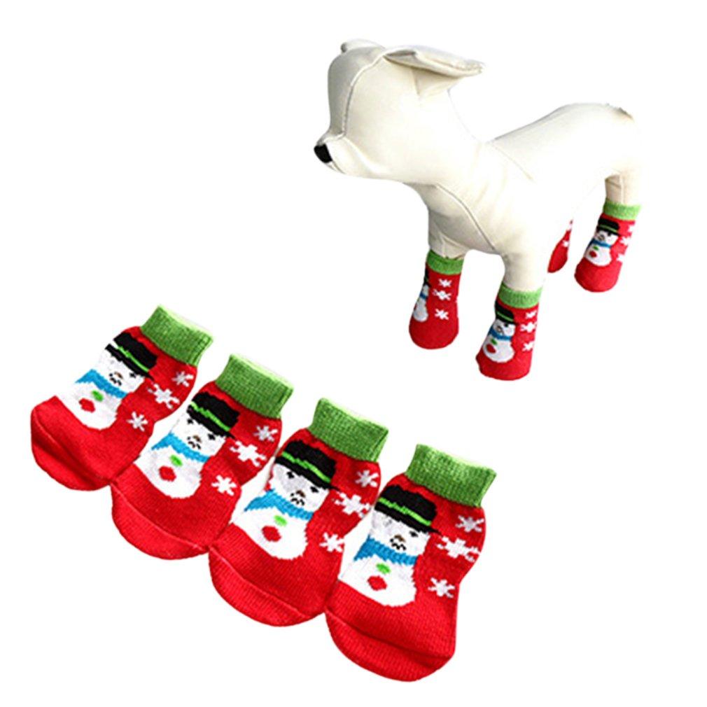 AIYUE® Weihnachten Hund Socken Pfotenschutz süßen Weihnacht Muster ...