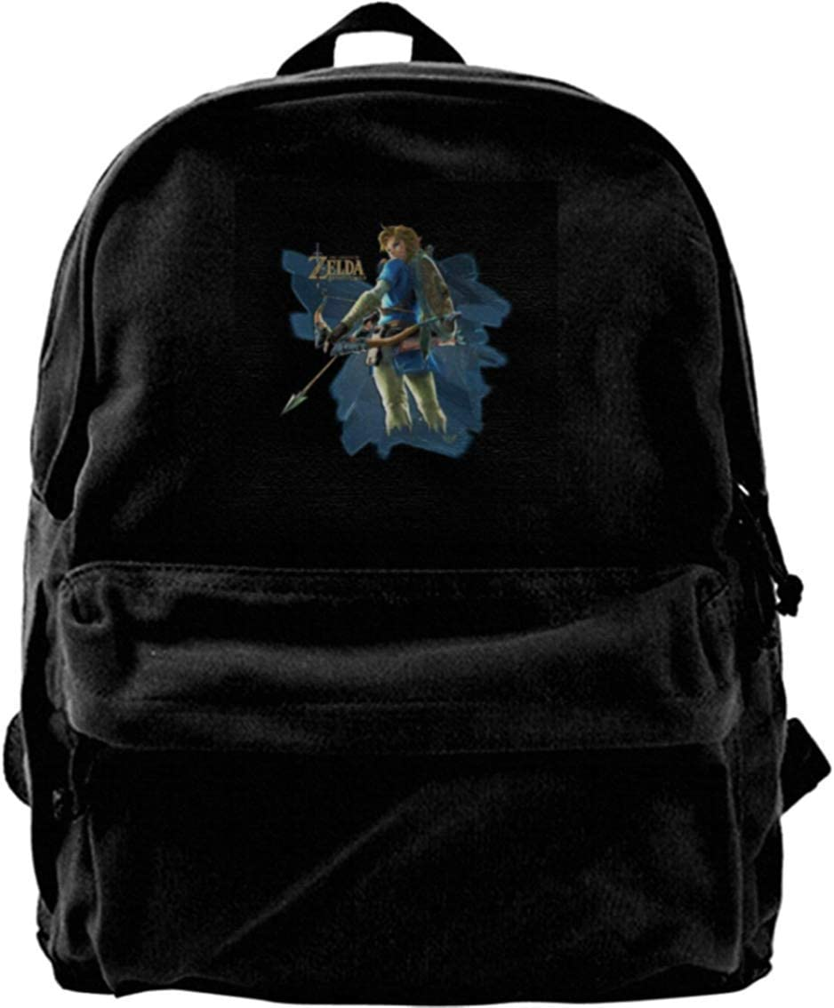 Aminee Canvas Backpack Link Zelda Breath of The Wild Arrow Rucksack Gym Hiking Laptop Shoulder Bag Daypack for Men Women