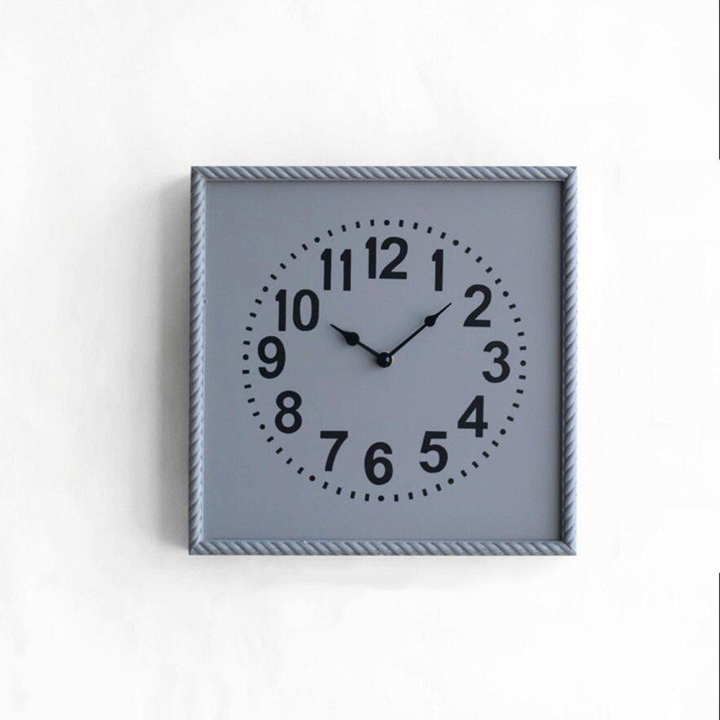 LINGZHIGAN 現代のクリエイティブ時計の居間装飾的な壁時計ミュートクォーツ時計 ( 色 : グレー , サイズ さいず : 32*32cm ) B07BWKKKNV 32*32cm|グレー グレー 32*32cm