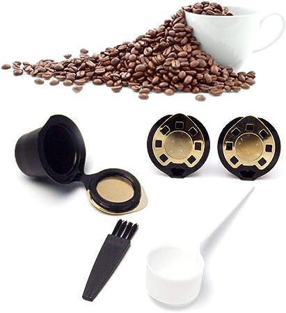 Volwco Cápsulas reutilizables Nespresso, cápsulas recargables de filtros de café de una sola taza, filtro de malla de acero inoxidable respetuoso con el medio ambiente para máquinas Nespresso con: Amazon.es: Hogar