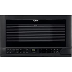 Sharp R-1210 1-1/2-Cubic-Foot 1100-Watt Over-the-Counter Microwave, Black