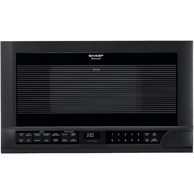 Amazon.com: Sharp r-1210 1 – 1/2-cubic-foot 1100-watt over ...