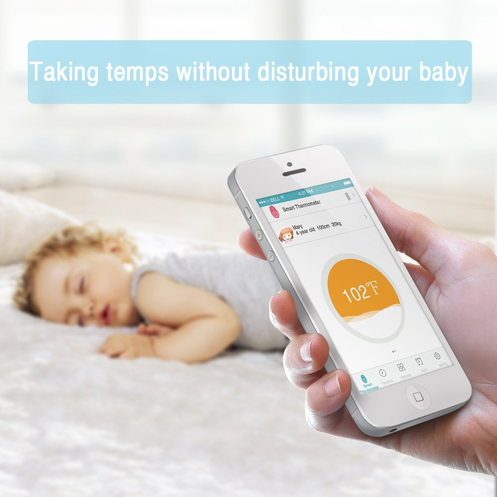Amazon.com : iRULU Temp Sitter Wireless Smart Thermometer Bluetooth Temperature Sensor Intelligent Monitor for Babies Green : Baby