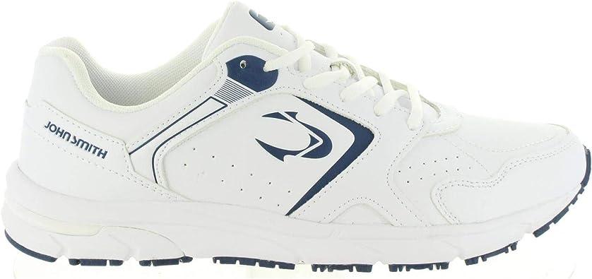 Zapatillas JOHN SMITH REDER Blanco-Marino - Color - Blanco, Talla - 46: Amazon.es: Zapatos y complementos