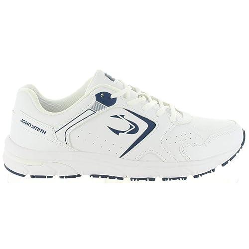 Zapatillas John Smith Reder Blanco-Marino: Amazon.es: Zapatos y complementos