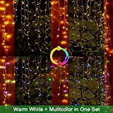 Ollny LED Icicle Lights 306 LED 24.6ft, Outdoor