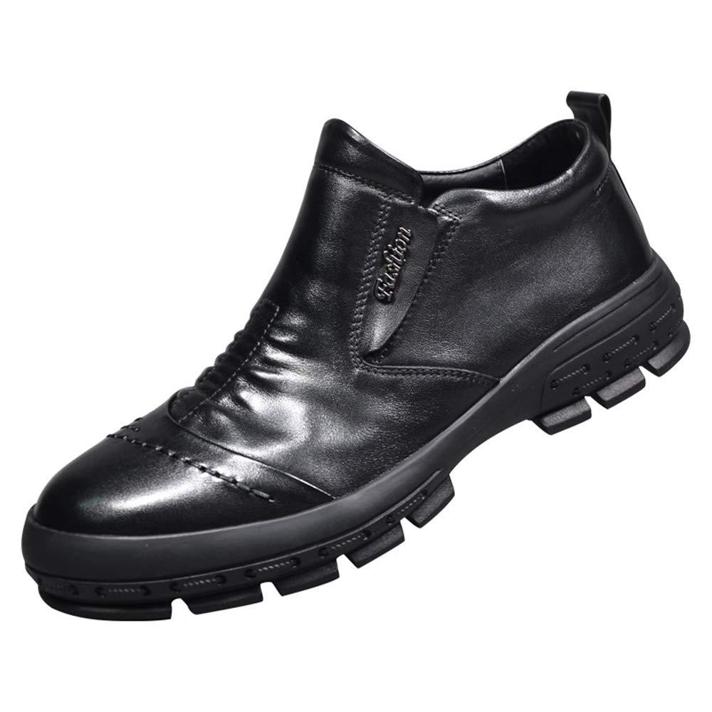 ZHRUI Herren Slip on Comfort Schuhe weiche Sohle atmungsaktiv Durable Non Slip Business Schuhe (Farbe   Schwarz, Größe   EU 43)