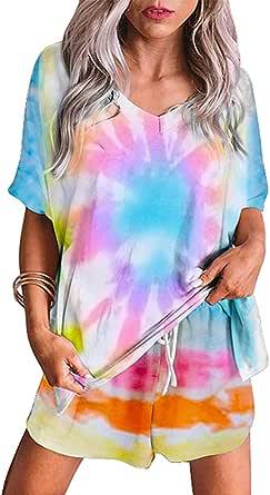 Cyenaly Womens Cute Pajamas Short Sets Sleepwear for Women Loungewear S-2XL