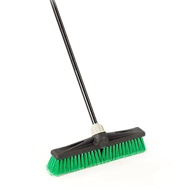 O-Cedar Professional 18  Multi-Surface Push Broom, Green