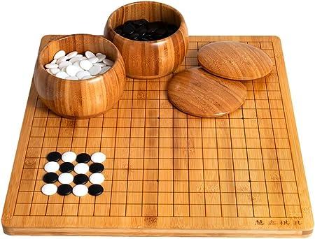 Taotao Tao Juegos Go, Tablero de ajedrez de bambú de Doble Cara Go Set para niños Principiantes Adultos (tamaño: 2 cm): Amazon.es: Hogar