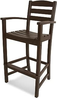 product image for POLYWOOD TD202MA La Casa Café Bar Arm Chair, Mahogany