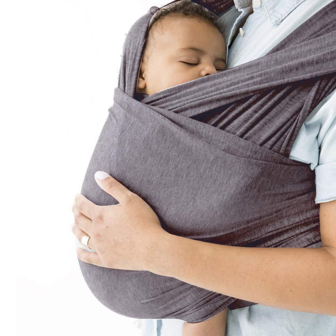 Amazon.com: Bebé Wrap Carrier hasta 35lbs, algodón, bandas ...
