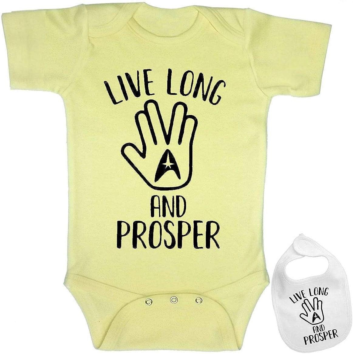 Cute Nerdy Saying Funny Shirt Baby Bodysuit Outfit Onesie /& Bib Star Trek Spock