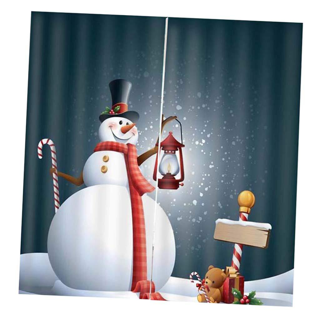 Albero di Natale Decorativo B Blesiya Tende Oscuranti Stampa 3D in Poliestere Accessorio Decorativo per Porta Bagno