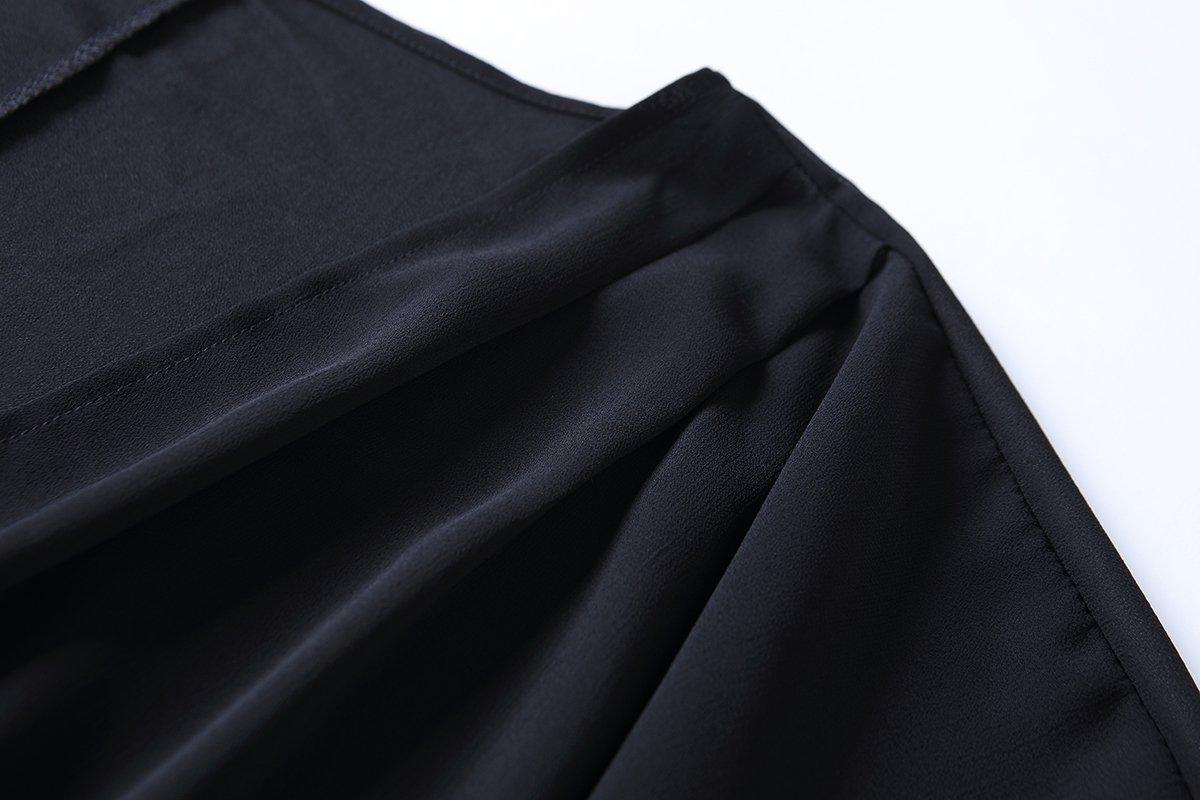 OLRAIN Women's Floral Print Sheer Chiffon Loose Kimono Cardigan Capes (X-Large, Black-1) by OLRAIN (Image #3)