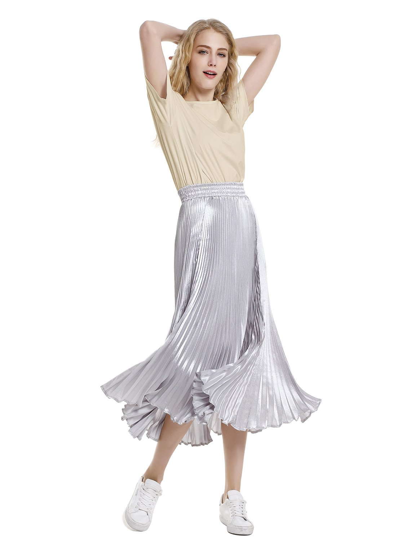 ZAN.STYLE Women's Plus Size Slub Cotton Tunic Tee Shirt Long T Shirt for Leggings X-Large Style 2-Light Khaki by ZAN.STYLE (Image #6)