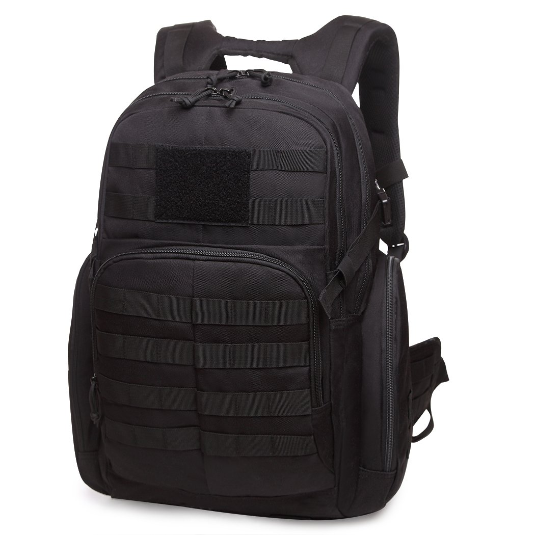 WT0076Black35L Mardingtop Tactical Backpacks Molle Hiking daypacks for Camping Hiking Military Traveling