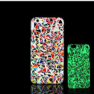 For iPhone 7 Plus Case, Glow in the Dark Datura Mandala Pattern TomCase Fluorescent Back Cover for iPhone 7 Plus Case 5.5 inch, P3