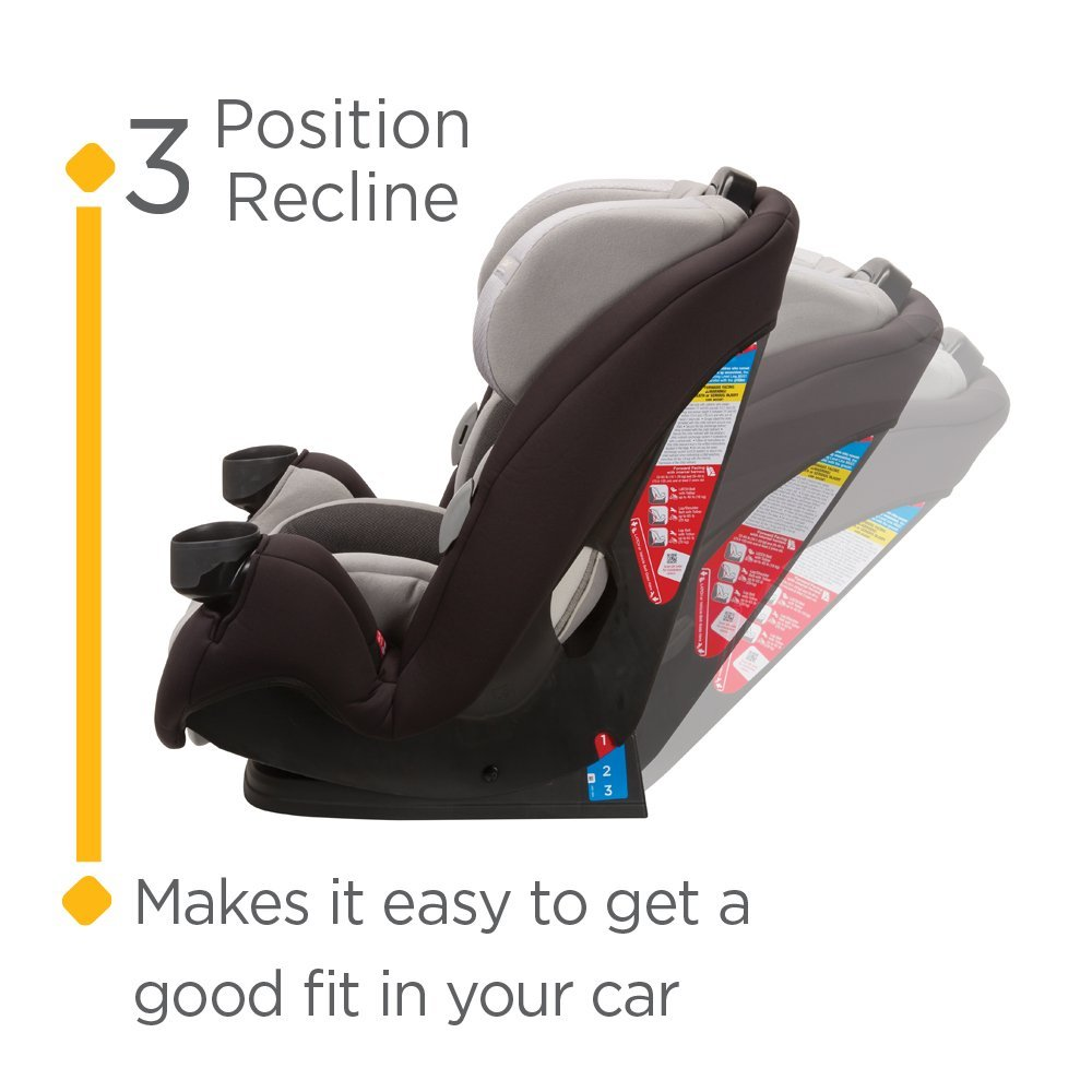 One Size Safety 1st Grow /& Go EX Air 3-in-1 Convertible Car Seat Moonlit Path