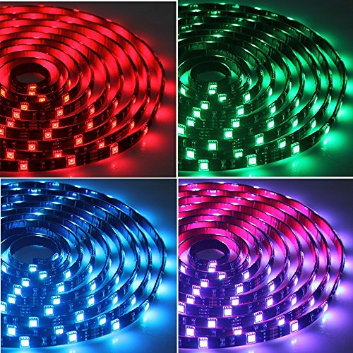 Tingkam waterproof 5050 smd 328ft 10m rgb led strip light kit quantity mozeypictures