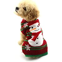 NACOCO Dog Snow Sweaters Snowman Sweaters Xmas Dog Holiday Sweaters Year Christmas…