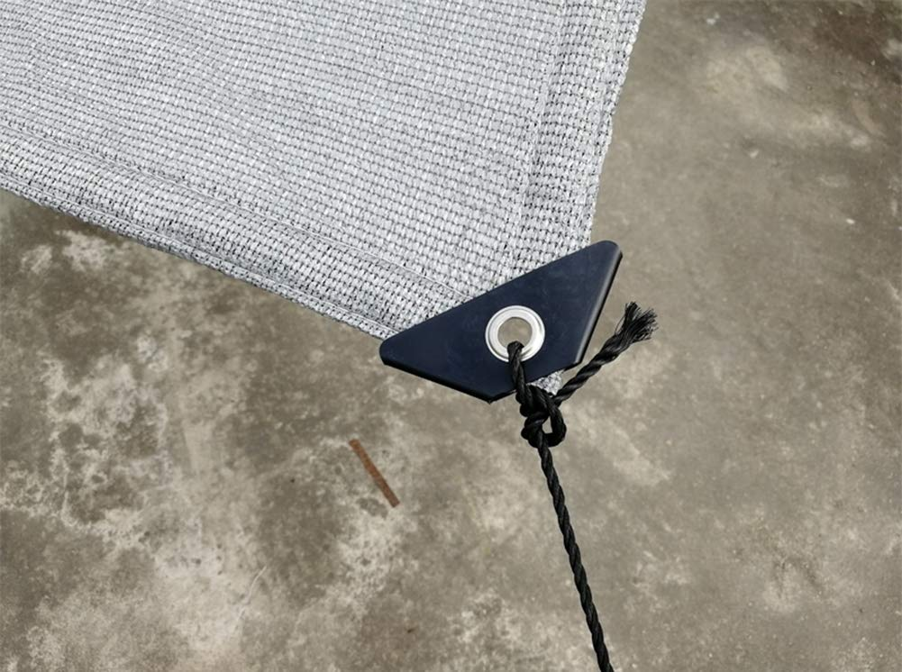 Solar Malla Sombrilla Tejado Exterior Espesar Toldos Terraza Malla Defensas UV Cobertizo Parasol Jardin Protecci/ÓN Del Borde Sombrasombreado Material Polietileno,Disponible En Diferentes Tama/ños,Plata