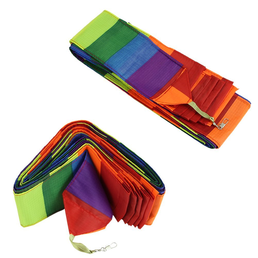 RETYLY Cometa de Truco de Super de Nylon de Cola de Color de Arco Iris Accesorio para Juguete de Ninos