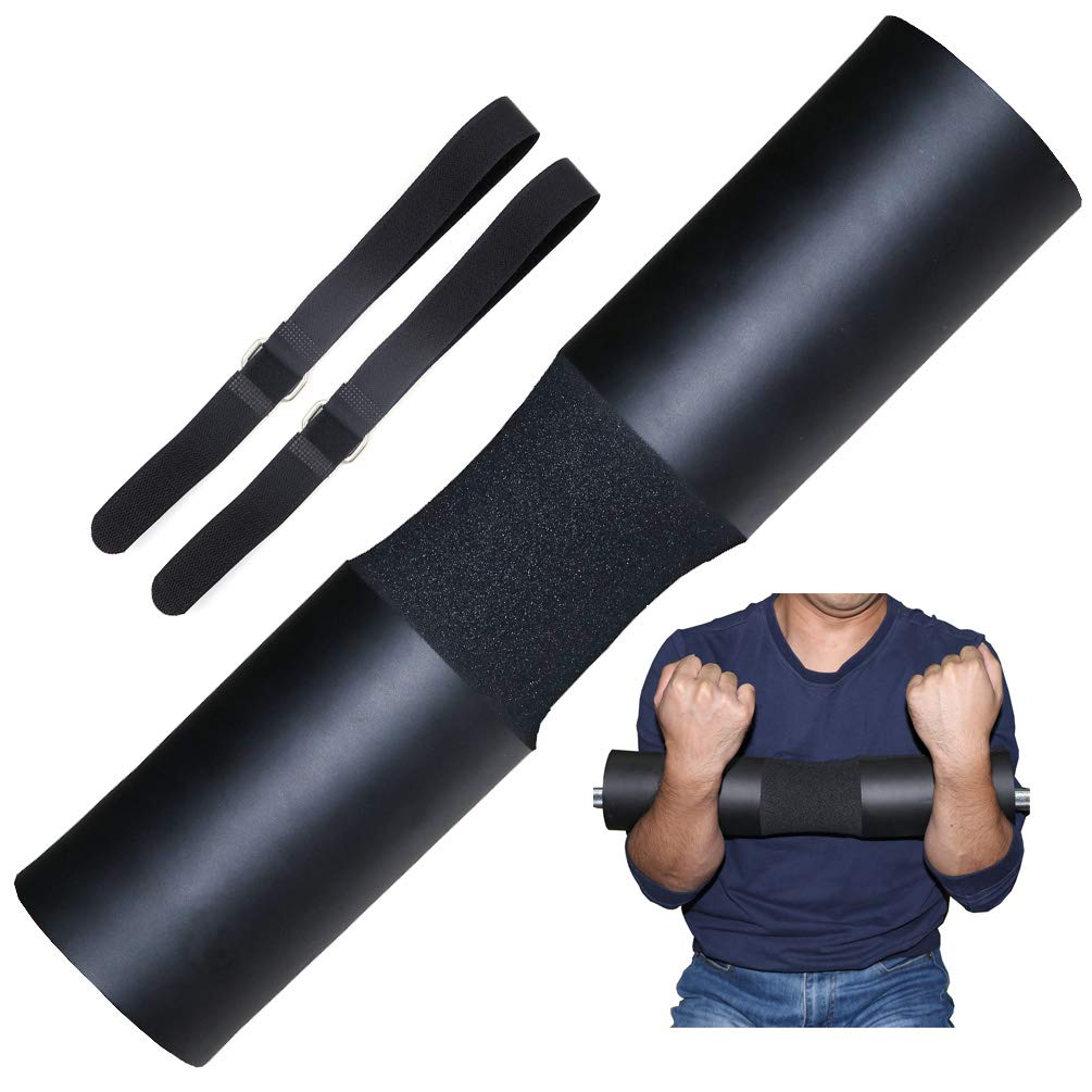 Greententljs Weight Lifting Cushion Padding, Fit Olympic & Standard Barbell Bar - Sponge Foam Neck Pad Workout for Gym Squats, Hip Thrusts, Power Weightlifting Support Shoulder Protector (Black)