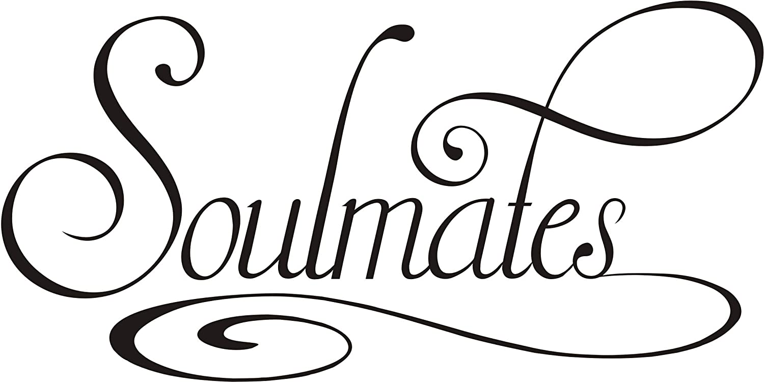 Custom Door Decals Vinyl Stickers Multiple Sizes 2 Souls Fell in Love Name Nature Lifestyle Wedding Outdoor Luggage /& Bumper Stickers for Cars Green 58X38Inches 1 Sticker