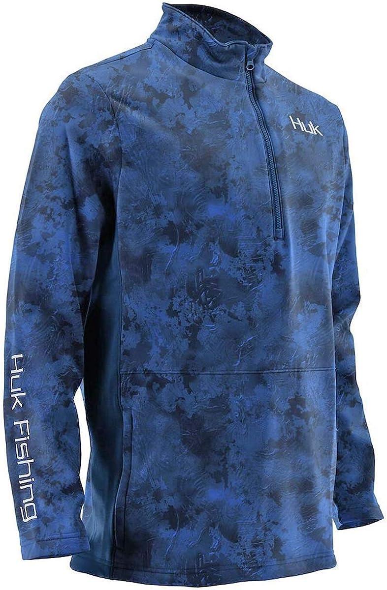 Huk Men's Tidewater Camo Subphantis 14 Zip Fleece Long Sleeve Shirt