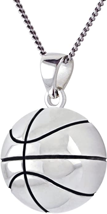 0.925 Sterling Silver 3D Large Football Ball Sports Charm Pendant