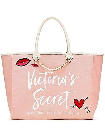 9a07d4393 Amazon.com | Victoria's Secret Angel City Tote, Light Pink/Heart | Travel  Totes
