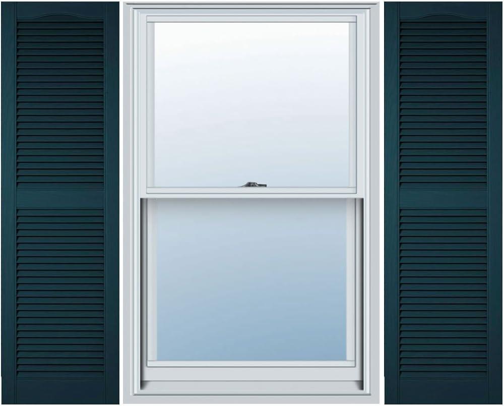 166 Midnight Blue Per Pair 14.5W x 64H Builders Edge  Shutters