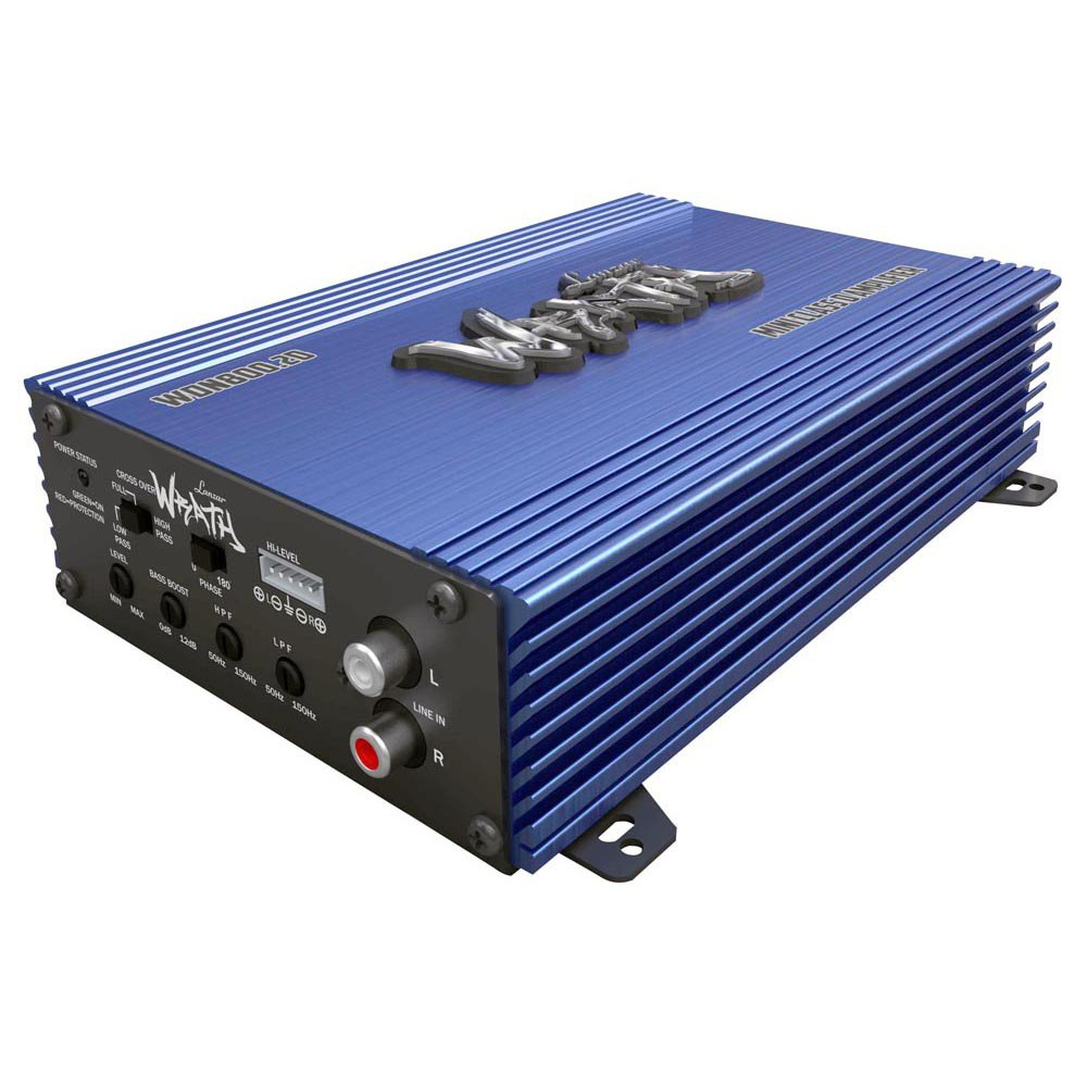 Lanzar WDN800.2D Wrath Series 800 Watt Compact Class-D 2-Channel Full Range Amplifier with Bass Boost Control