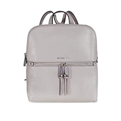 8ef08633374a Amazon.com: MICHAEL Michael Kors Rhea Zip Medium Slim Backpack (Pearl Grey):  Shoes