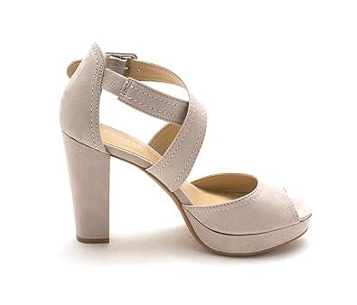 7e38de7db8 Amazon.com | Chinese Laundry Womens Abigail Peep Toe Special Occasion,  Smoke Grey, Size 7.5 | Shoes