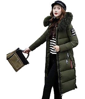 Femme Doudoune Mode Hiver Parka Manches Longues Unicolore avec Fermeture  Éclair Poches Latérales Zipper Style de aabe4475034