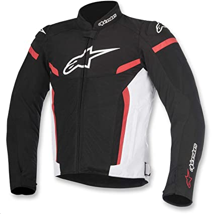 26b975f0d9a Amazon.com  Alpinestars T-GP Plus R v2 Air Jacket (MEDIUM)  (BLACK WHITE RED)  Automotive