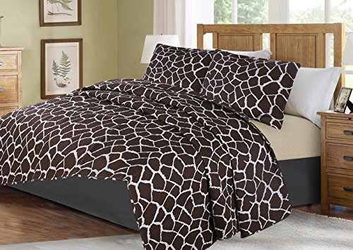 no!no! Printed Animal Designs Bedspread Coverlet Quilt Set with Pillow Shams Animal 4# Size Twin by no!no!