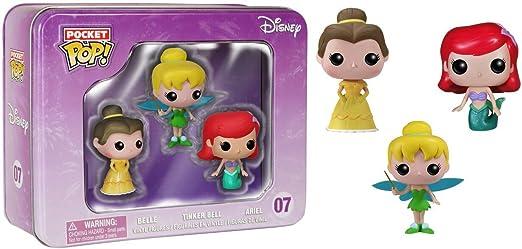 Funko - Pop! Los Personajes de Disney Pack 3: Ariel, Bella y Campanilla: Amazon.es: Juguetes y juegos