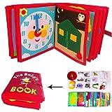 Viugreum 布絵本 知育 布玩具 布の絵本 おでかけ布えほん 布おもちゃ 幼稚園 教育玩具 生活習慣 練習 知育絵本 手作り