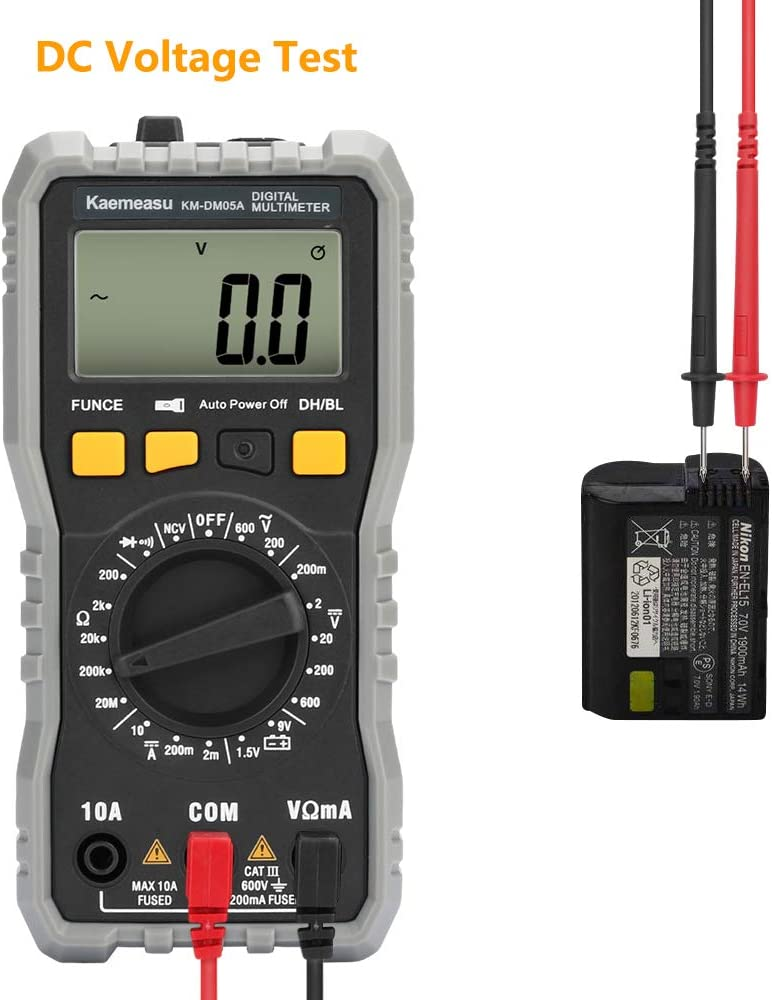 retroiluminaci/ón Azul XL830L HT1381 medidor de Resistencia de amper/ímetro CC medidor de Voltaje CA//CC Motoki Mult/ímetro Digital multimedidor de Voltaje