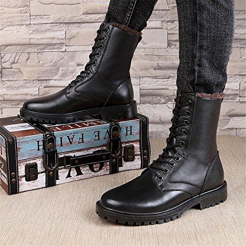 16d63c214e5 ailishabroy Hombres clásicos Botas Negras Mi-Becerro Cuero Invierno cálido Botas  para Caminar Hombre: Amazon.es: Zapatos y complementos