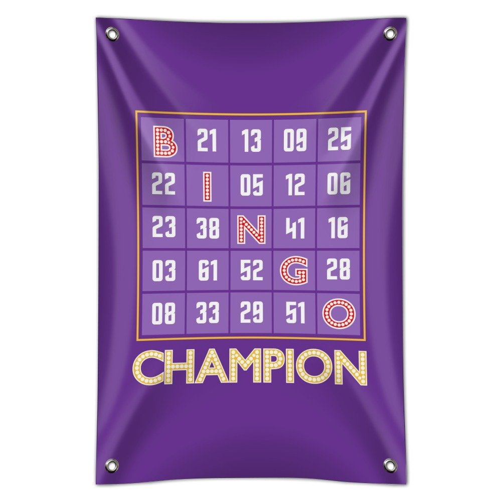 Bingo Champion Home Business Office Sign - Vinyl Banner - 22'' x 33'' (56cm x 84cm) by Graphics and More
