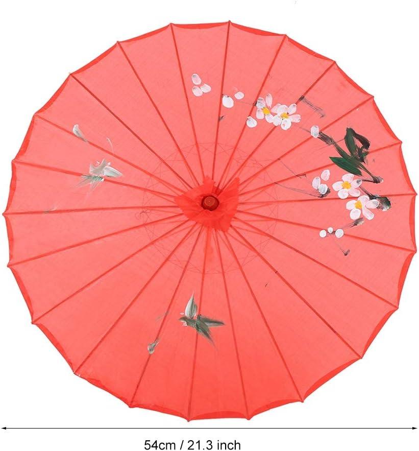 Durchmesser 54cm MEHRWEG VERPACKUNG socialme-eu Fdit Handgemachtes dekoratives ge/öltes Papierregenschirm Cosplay-Foto-Dekor f/ür Hochzeitstanzparty Blau