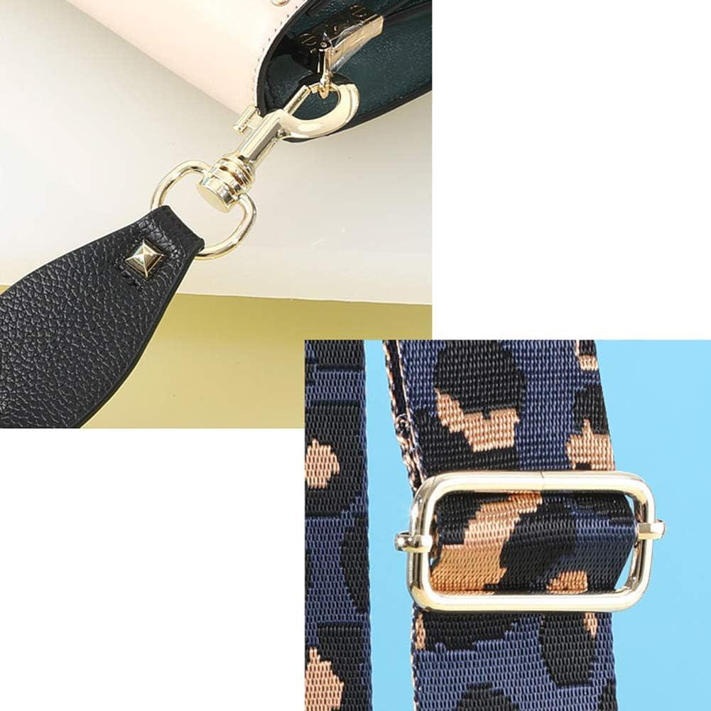 2 Wide Bi-color BlackRed Canvas Shoulder Strap Crossbody Bag Purse Handbag Straps Replacement Bag Strap