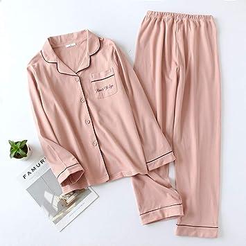 SYLOIK Lovers Set Pijamas Algodón Pijamas para Mujeres Conjuntos ...