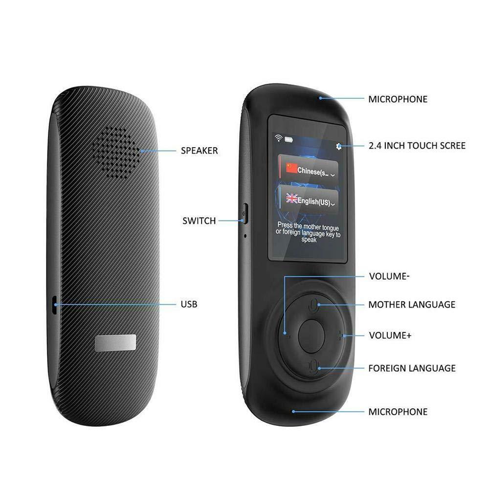 Peedeu traduttore simultaneo vocale Offline Portatile con Supporto Touch Screen ad Alta Definizione da 2,4 Pollici 70 Lingue Accurate traduttore vocale per Chat aziendali Viaggi allestero