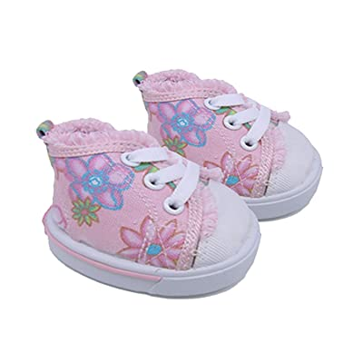 "Girl Power Shoes Teddy Bear Clothes Fits Most 14"" - 18"" Build-a-bear and Make Your Own Stuffed Animals: Toys & Games"
