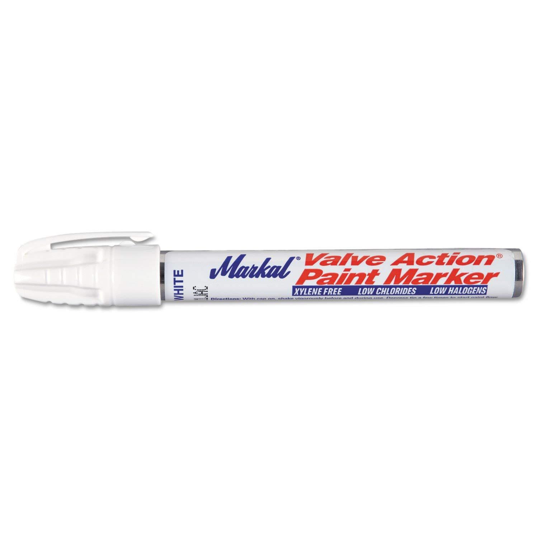 48-Pk Markal White Valve Action Liquid Paint Markers